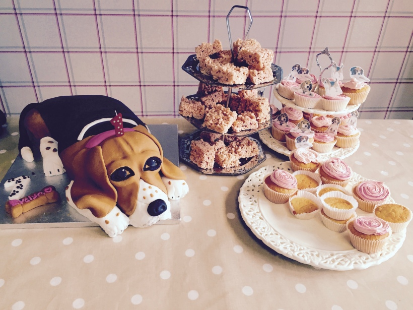 Beagle birthday cake tutorial